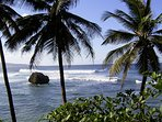 Soup bowl at Bathsheba, east coast, a surfers paradise. Easy to get there by bus
