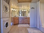 You won't have to over-pack when you can use these in-unit laundry machines.
