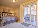 Just like the master, this second bedroom offers access to the private balcony.