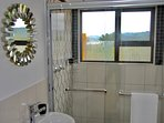 Lovely bathroom with a view