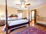 Comfortable Master King Bedroom with Large Closet and En Suite Bath.