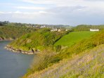 Coastguards seen from the South West Coast Path.