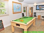 Games room with pool table, table tennis and Wii