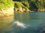Cellars - great swimming at high tide!