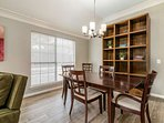 This 2nd dining room has a more formal feel - perhaps this is the adult table?