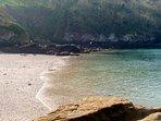 Cellars Beach, 10 min walk.