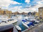 Amazing views of the docks