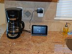 Coffee maker, and security pad
