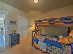 Siblings and friends will love sharing this twin-over-full bunk bed.