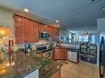 The fully equipped kitchen includes everything you'll need to prepare a home-cooked meal.