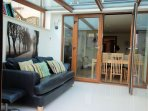 Conservatory with TV