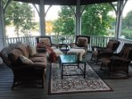 Screened in porch directly off the master bedroom and open porch.
