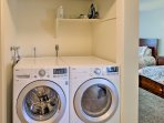 Use the washer and dryer to keep your clothes nice and clean!