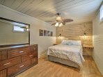 Enjoy peaceful slumbers on the queen bed in the fourth bedroom.