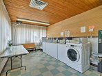 Keep your  camping clothes fresh with a quick wash in the on-site laundry machines.