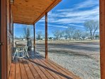 Watch the sunrise over the Fishlake Mountains each morning from the private front porch.