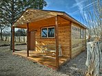 Saddle up for a stay in this wonderful vacation rental studio cabin at Wagons West in Fillmore!