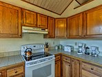 Essential appliances and ample counter space make cooking a breeze.