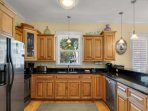 Fully Equipped Kitchen  - Stainless Appliances and Granite Countertops