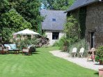A traditional 18th century stone farmhouse nestled in one hectare of the beautiful Mayenne