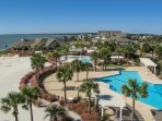 Pelican's Nest restaurant serves lunch, dinner and drinks at the beach and pool!