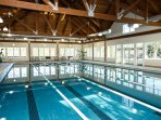 Rain or shine! Use the Olympic heated Lake house Indoor pool all year long!