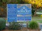 Bohicket Marina & Market is a quick 10 minute drive, rent boats, eat, or shop!