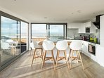 A luxury modern flat with breath-taking sea views