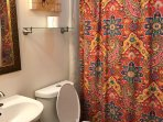 Hall bath bright and convenient