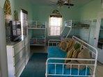 Dorm room sleeps 11, 2 full, 7 bunks