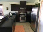 Kitchen fully loaded, full size stainless steel appliances