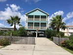 Beautiful new house 1block from beach/sleeps 20, pets welcome