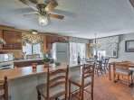 Keep the chef company at the 3-person breakfast bar.