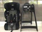 Children's highchair and car seat (Australian safety standards)