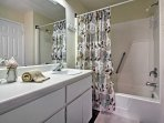 Return from the beach and enjoy a refreshing shower in 1 of the full bathrooms.