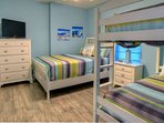 Second Bedroom with one Queen and a set of bunks!