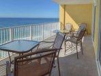 Plenty of seating on this balcony!
