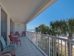 Private Balcony Access with Plenty of Seating!