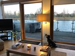 Great views onto the lake from the living area