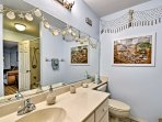 A second full bathroom provides another space to get ready each morning.