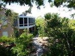 Verandah overlooks the jungle