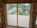 Private balcony, off of master bedroom, overlooking the pool and point