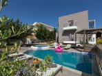36 sqm heated swimming pool and 13 sqm separated children pool with 0.60 m depth