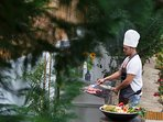 Our famous Chef can prepare for you the perfect menu upon request