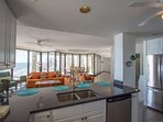 Views of the never-ending ending ocean from every room in this beautiful penthouse