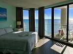 Master bedroom, with King bed, full bath, private balcony overlooking the ocean