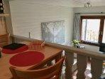 Offener Bereich von Küche zum Wohnzimmer