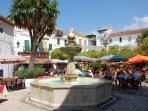 The beautiful old town of Marbella is full of narrow streets and beautiful buildings with many bars!