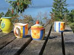 Grab a Cup 'o Joe, head down to the picnic table and watch the ferry to-ing and fro-ing!