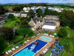 Atlantic Gold Lodge. Atlantic Reach Resort- Outdoor Pool and Aerial view